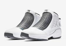 Nike Air Jordan 19 Retro XIX FLINT GREY CHROME WHITE BLACK AQ9213-100 Size 8