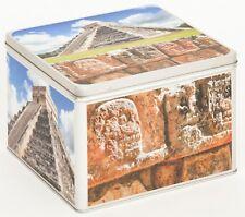 Álbum de fotografías metal lata caja blechbox Cookie Jar motivo méxico chichen itza Yucat
