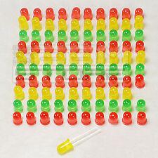 100 pz Led 5 mm standard- rossi - gialli - verdi - ART. AE14