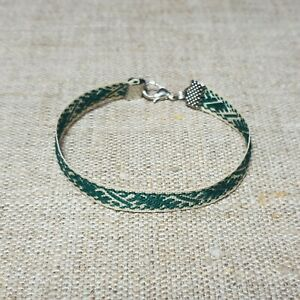 Bracelet - folk band with Latvian traditional ethnic Usins sign of strength