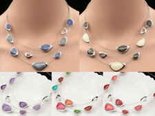 3 layer triangular design enamel choker metal cords necklace woman jewelry S97