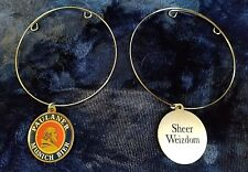 "Paulaner Munich Bier BEER Bottle medallion Charm Bracelet ""Sheer Weizdom"""