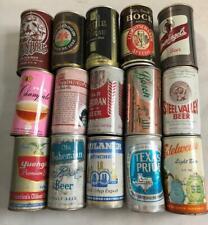 Lot of 15 Vintage Beer Cans Various Brands Steel Valley Old German Leinenkugels