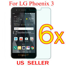 6x Clear LCD Screen Protector Guard Cover Shield Film For LG Phoenix 3 / M150