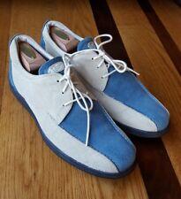 Havana Joe Tan/Blue Men's Suede Oxfords Driving Shoes Size EUR 43 US 9/9.5