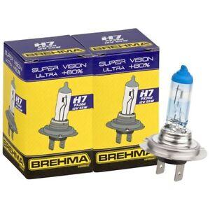 Duo Set BREHMA Super Vision Ultra H7 +80% Autolampe 12V 55W Lampe Birne Auto