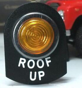 Land Rover Series 2a 3 LED Illuminated Amber Dormobile Roof Up Warning Light