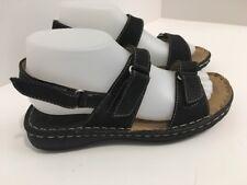 Pierre Dumas Women's Size 8 Black Hook & Loop Sandals adjustable Shoes Spring