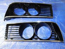 BMW E24 633CSi 635CSi EARLY PAIR of Headlight Grills Ref Parts 1838751, 1838752