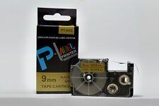 Compatible Casio XR-9GD Black on Gold 9mm 8m Label Tape KL-430 KL-820 XR-9GD1