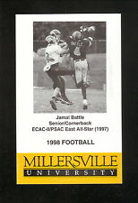Millersville Marauders--1998 Football Pocket Schedule--Jack's Family Tavern