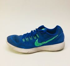 Men's Nike Lunar Trainer Running Shoes Size 12 M Electric Blue & Green