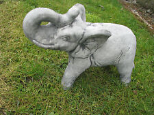 37cm stehender Elefant Gartenfigur Steinguss Gartenfigur Steinfigur