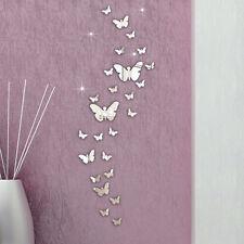 30 STÜCK Schmetterling Kombination 3D Spiegel Wand Sticker Wohndeko DIY Elegant