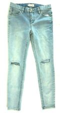 NWT FREE PEOPLE Women's Brass Blue Stretch Destroyed Skinny Jeans 26 x 26
