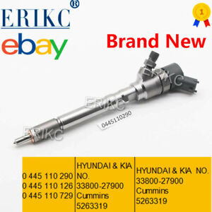 ERIKC 0445110126 Diesel Injector 33800-27900 5263319 For Bosch Sportage Santa Fe