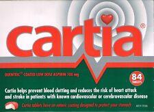 =>PRICE SMASH CARTIA 100MG  ASPIRIN 84 ENTERIC COATED  TABLETS