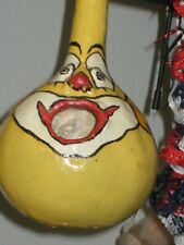 Yellow Clown Gourd Bird house has not been put outside yet