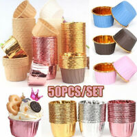 50pcs Striped Cupcake Paper Cup Muffin Cases Cake Mold Tray Baking Cup Liners