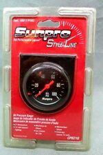 Nos Sunpro Style Line Oil Pressure Gauge Cp8216 2 Mechanical 12v With Light