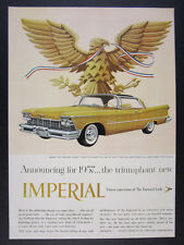 1957 Chrysler Imperial Crown Southampton color car art vintage print Ad