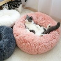 Round Plush Cat Bed Dog House Puppy Cushion Pet Sleep Blanket Pet Cat Soft Bed