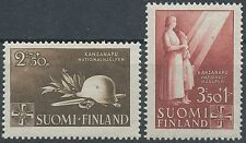 Finland 1943 MNH - National Relief - Welfare - Scott B58-59 Nationalhilfe - WWII