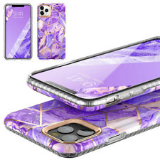 For iPhone 11 Pro Marble Case,Ultra-Slim Shockproof Protective Cover Purple