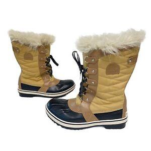 Sorel Women's Size 7 Tofino II Waterproof Snow Boots Faux Fur Great Condition