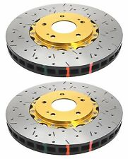 DBA FRONT DRILLED SLOTTED BRAKE ROTORS 5000 FOR 2004-2016 SUBARU IMPREZA WRX STI