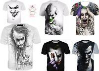 The Joker DC Comics So Serious Superhero Batman T-Shirt 3D Print Unisex S-7XL