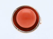 antiker Ring 7,00 Karat Koralle 333 Rosé Gold um 1920 - 1930