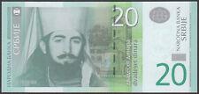 Serbia 20 Dinara 2013 P 55 New Low S/N Uncirculated Banknotes