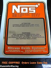 NEW CHROME NOS REPLACEMENT 10 LB. NITROUS BOTTLE LABEL STICKER DECAL OXIDE 10#