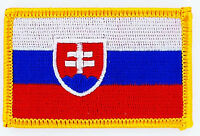 SLOVAKIA FLAG PATCH BADGE IRON ON NEW EMBROIDERED