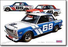"BRE Datsun 510 TransAm 2.5 Team Cars Print (19""x13"") sold by Peter Brock BRE"
