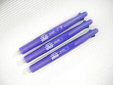 3Pcs Zebra Clip-On Multi B4SA1 4+1 0.7mm Ballpoint Pen Mechanical Pencil, Violet