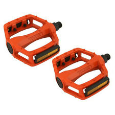 "Orange 9/16"" VP Components BMX Wide Platform Fixie Road MTB Bike Bicycle Pedals"
