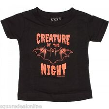 86352 Black Creature of the Night T-Shirt Sourpuss Baby Halloween Goth 6M