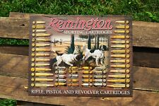 Remington Bullet Board Tin Metal Sign - Revolver Pistol Rifle - Firearms - Retro