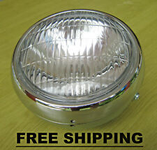 Yamaha QT50 Yamahopper LC50 Champ Headlight & Chrome Bucket Case & Bulb FREE SH.