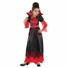 Childs Kids Vampire Queen Halloween Fancy Dress Outfit Costume - Age 4 - 6 Years