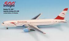 Austrian Airways OE-LAW 767-300ER Airplane Miniature Model Metal Die-Cast 1:500
