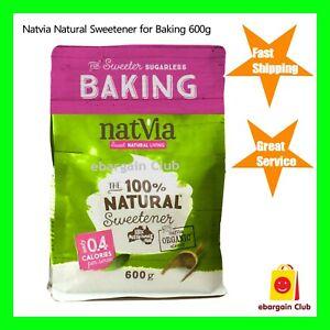 NatVia Natural Sweetener for Baking 600g Bulk Buy Organic Stevia eBC