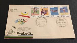 Shri Lanka 1992 Fdc Barcelona Olympics