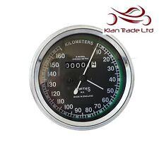 Speedometer Smiths Replica 0-160 KPH Black Dial Face Speedo Reproduction