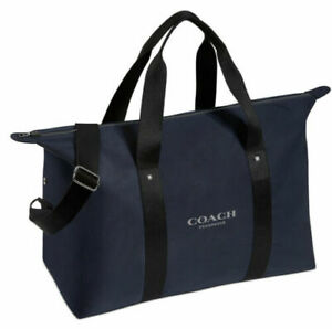COACH DUFFLE BAG/WEEKENDER BAG/GYM TRAVEL BAG CARRY ON LUGGAGE NAVY BLUE NEW