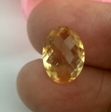 Natural Yellow Topaz Loose Gemstone 4 Ct Oval Shape Faceted 10x14 MM Depth 5MM