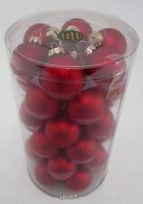 Weihnachtsbaumkugeln 40mm de vidrio-rojo 36 St. en el set Matt
