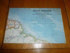 SUD AMERICA-Mappa Nazionale gegraphic-PIASTRA ATLAS 25-FEB 1960
